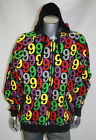 Men's Black/Multicolor Hoody by Gino Green Global
