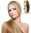 """15""""~22"""" 100% Human Hair Half Wig pretty easy use ALL colors selectable"""