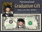 Personalized GRADUATION GIFT Your Face  Name REAL DOLLAR BILL Cash Money Custom