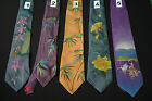 Mens Hand Painted 100% Silk Ties