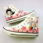 Beijing Opera Facial Masks Style Unisex Pure Hand-painted Canvas Shoes Sneakers