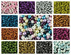CHOOSE COLOR! 50pc Czech Glass Pressed Small Pony Beads 5.5mm, Round, Hole 2mm $4.38 USD