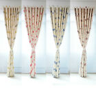AM1 Floral Blackout Room Door Window Curtains Ring Top Pair Eyelet Panel Drape