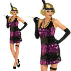 Ladies Sexy Sequin Flapper Costume 10 - 16 Fancy Dress Charleston Dancing Party