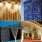 600 Led 6x3M Curtain Fairy Lights Wedding Indoor Outdoor Garden Party Xmas