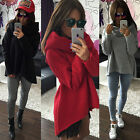 Womens Winter Turtle Neck Pullover Hoodie Jacket Hooded Sweater Coat Jumper Tops