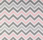 Premier Prints Zoom Zoom Bella Pink Chevron Fabric, Pink and Gray Fabric