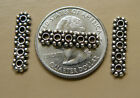 925 Sterling Silver spacer bars from 2 to 6 strand holes 3 styles to choose from