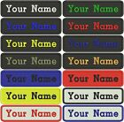 RECTANGULAR CUSTOM EMBROIDERED NAME TAG Sew on patch Quality Badge (A)