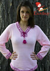 Metis Sweater Etchiboy Chandail Rose Pink Alpaca Wool Laine Bell Shape XS-XL