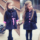Kids Girl Baby Fashion Trench Coat Outwear Children Windbreaker Jacket Tops 2-7Y