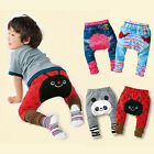 Cute Baby Kids Toddler Boys Girls Bottoms Animal Leggings Leg PP Pants Warmers