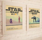Vintage A3 Star Wars Posters Attack of the Clones New Hope Empire Strikes Back £4.99 GBP
