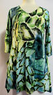 Valentina Tunic TopMulti Colored   Style 8761 Green Studed Polly NWT  Size Small