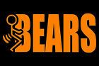 """F"" CHICAGO BEARS STICKER - NFC NORTH - MULTIPLE COLORS - XLIX  #CB1"