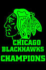 "Chicago Blackhawks Head Sticker Stanley Cup Champions 9"" Wide - Choose Colors"