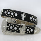 1371-Plus SIze1 1-4 Wide Western Rhinestone Studded Women's Belts Plus Size Belt