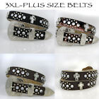 1371-Plus SIze1 1/4 Wide Western Rhinestone Studded Women's Belts Plus Size Belt