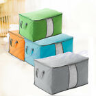 Folding Charcoal Bamboo Clothes Storage Box Bag Blanket Closet Organizer