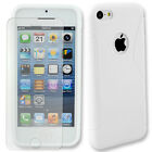 S-Line Soft Gel TPU Cover Back Case Skin for Apple iPhone 5C + Tempered Glass