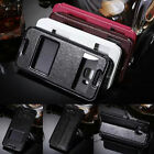 Luxury Flip Leather Double View Window Stand Case Cover For HTC ONE M7 M8 M9 816