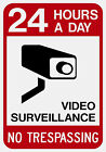 24 Hours A Day Video Surveillance Sign Reflective Aluminum Sign