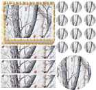 Snow White Tree Real Tree Camo Print Edible Cake Topper Frosting Sheet-All sizes