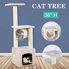 36'' Cat Tree Scratching Kitten Pet Condo Furniture Post Pet house in 3 Colors