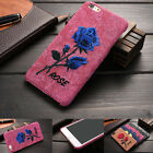Fashion 3D Rose Flower Leather Frame Back Cover Case for Apple iPhone 6 6s Plus