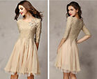2014 Hot Dresses 3/4 Sleeve Slim Fit Tunic Ball Gown Evening Party Popular Dress