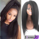 Italy yaki 100% Brizilian remy human hair full/front lace wigs 6A+ high quality