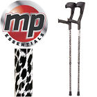 Adjustable Compact Funky Pattern Forearm Medical Stabilising Crutches - Pair