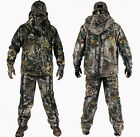 Hot 3D Bionic Camo Fleece Thermal Waterproof Ghiliie Suit Warm Jacket