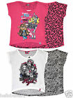 OFFICIAL MONSTERS HIGH FREAKY FAB SHORT SLEEVE FRONT&BACK PRINTED TOP 8 10 12 14