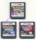 3PCS Nintendo Pokemon Platinum+Pearl+Diamond Version Game Card for 3DS DSI
