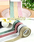 5M Useful Glitter Washi Sticky Paper Masking Adhesive Tape Label DIY Decorative#