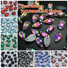 7*12mm 100ps Water Drop Rhinestones Sew On Flatback Crystal Glass Strass Chatons