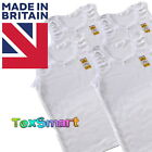 6 Pack of Girls 100% Cotton Warm Vests UK MADE Ages 1 to 13 years Back to School