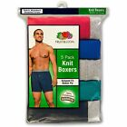 Fruit of the Loom Mens Knit Boxers 5Pk or 6Pk or 8PK