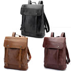 Vintage Men's Leather Backpack Messenger Bags Satchel Laptop travel Rucksack