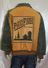 Men's Phat Farm Green/Wheat Faded Look 100% Genuine Leather Jacket