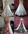 Gothic Camo Wedding Dress Real Images Bridal Gowns Camouflage Wedding Dresses