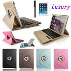 iPad Air 2 360 Rotating Swivel Leather Case Cover+Removable Bluetooth Keyboard