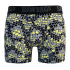 Bawbags Cool De Sacs Snakeskin Boxer Shorts - Yellow