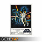 STAR WARS A NEW HOPE VINTAGE (1133) Picture Poster Print Art A0 A1 A2 A3 A4 £16.95 GBP