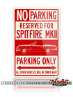 Triumph Spitfire MKII Convertible Reserved Parking Sign - 12x18 or 8x12 Aluminum $29.9 USD on eBay