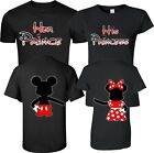 Mickey and Minnie Disney Prince and Princess couple matching funny cute T-Shirts