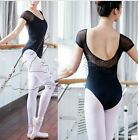 Black Women Kids Girls Dance Costume Ballet Gymnastics Yoga Leotard Short Sleeve