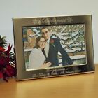 Personalised Snowflake 6x4 Photo Frame Bridesmaid Wedding Gift, Landscape