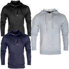 Stitch Detail Long Sleeve Pullover Hoody  Mens Size